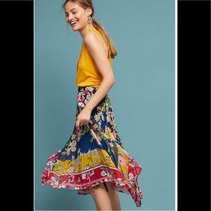 ‼️Anthropologie Leora Pleated Floral Skirt L‼️